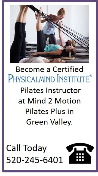 Call today for more information on becoming a certified Pilates instructor!